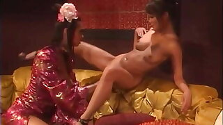 Busty Asian Babe Tera Patrick Tongue Fucks Lesbian Asian Charmane Star