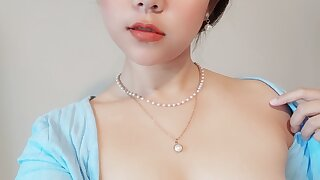 Asian slut exposed her boobs and nipples